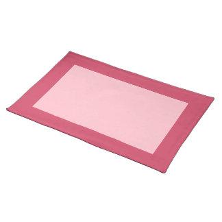 Frambuesa y Placemat rosado Manteles Individuales