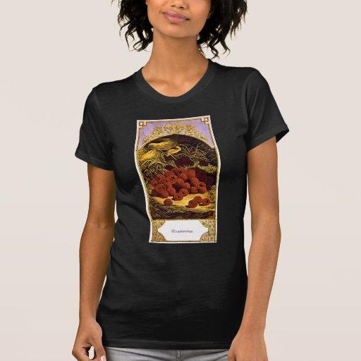Frambuesas - anuncio 1874 del vintage camisetas
