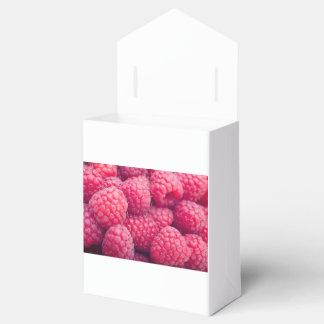 Frambuesas frescas caja para regalo de boda