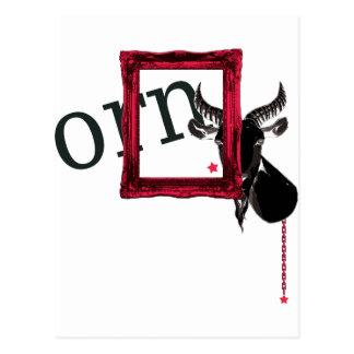 frame a goat postcard