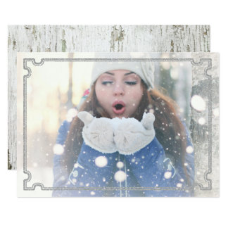 Frame-able YOUR Photo | Greeting on Reverse of Card