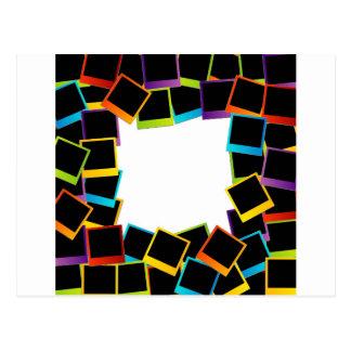 frame- colorful postcard