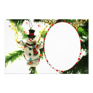 "Frame for photo ""Doll of Christmas "" Custom Stationery"