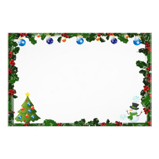 "Frame for photo ""natalinos Ornaments "" Stationery"