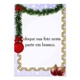 """Frame for photo """"Ornaments of Christmas """" Card"""
