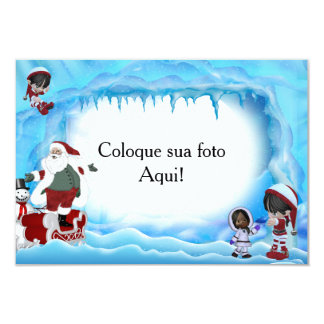 """Frame for photo """"Papa Noel and girls """" Card"""