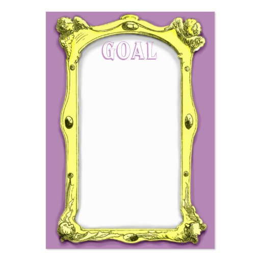 goal cards template