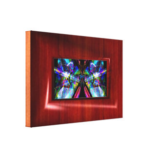 Frame in fine wood illusion your art or photo canvas print