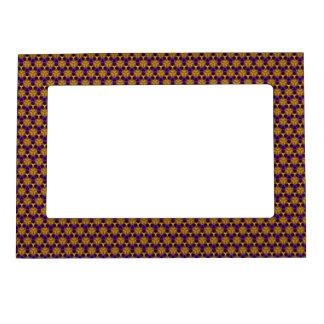 Frame - Magnetic - Purple & Gold Triquetras