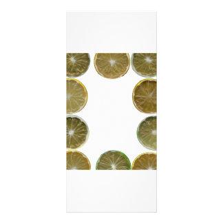 Frame of lemon and lime slices rack card