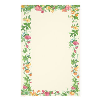 frame of roses stationery