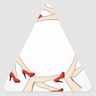Frame or design element with legs of women triangle sticker