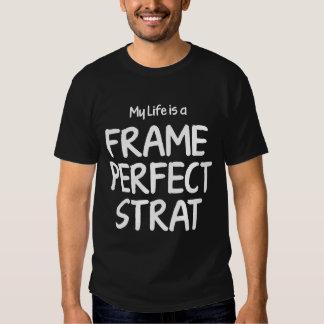 Frame Perfect Strat - White Text Tee Shirt