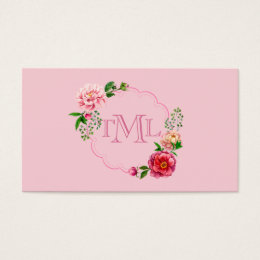 Frame Personalized Country Chic Floral Business Card
