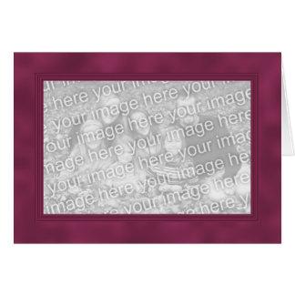 Frame Template Card - Smokey Crimson