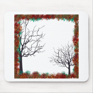 frame trees autumn decoration mouse pad