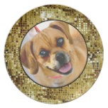 Frame Your Photo In Beautiful Gold Sequins Plate