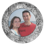 Frame Your Photo In Beautiful Silver Sequins Plate