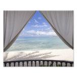 Framed Beach View Photo