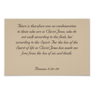 Framed Bible Verse Artwork, Romans 8:38-39 Poster