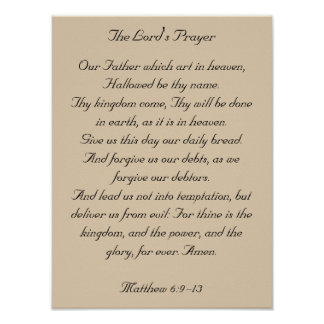 Framed Bible Verse Artwork the Lord s Prayer Posters