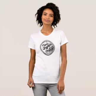 Framed Black White Horses Tee Shirt