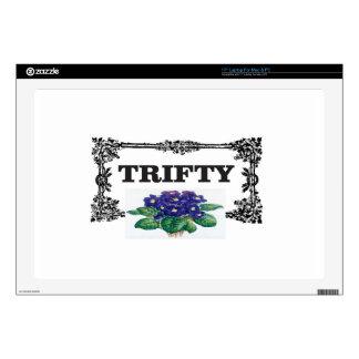 "framed blue thrifty 17"" laptop decals"