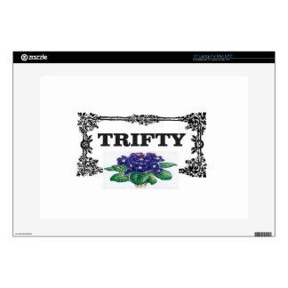 framed blue thrifty laptop decals