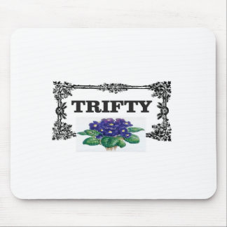 framed blue thrifty mouse pad