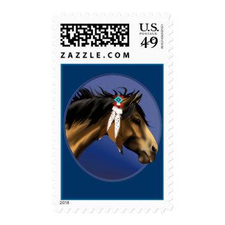 Framed Buckskin Horse Face Postage