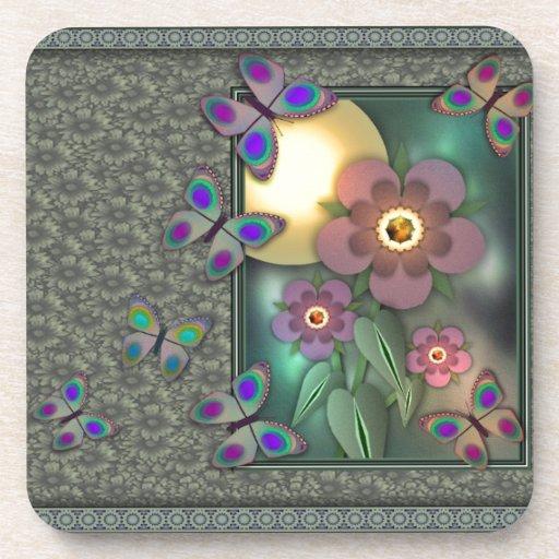 Framed Butterflies Coaster