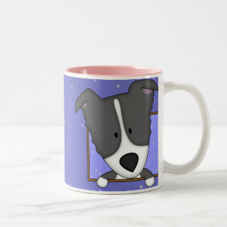 Framed Cartoon Border Collie Mug