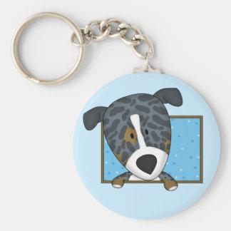 Framed Cartoon Catahoula Leopard Dog Keychain