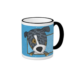 Framed Cartoon Catahoula Leopard Dog Mug