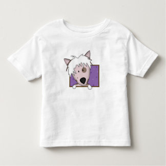 Framed Cartoon Chinese Crested Toddler's Shirt