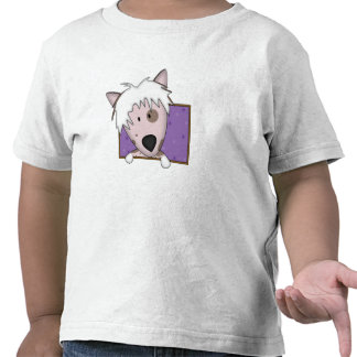 Framed Cartoon Chinese Crested Toddler's Tees