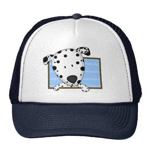 Framed Cartoon Dalmatian Trucker Hat