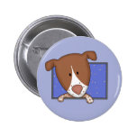 Framed Cartoon German Shorthaired Pointer Buttons