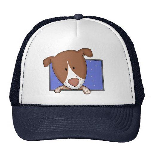 Framed Cartoon German Shorthaired Pointer Trucker Hat