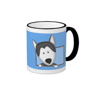 Framed Cartoon Siberian Husky Mug