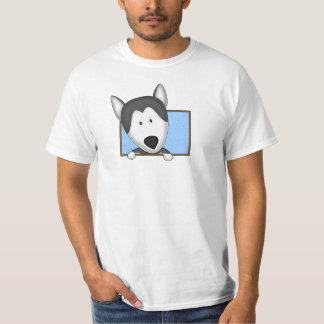 Framed Cartoon Siberian Husky T-shirt