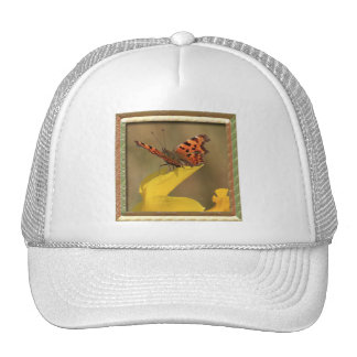 Framed Daffodil and comma Butterfly Trucker Hat