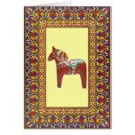 Framed Dalarna Horse Greeting Card