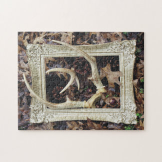 Framed Deer Antlers Photographic Art Jigsaw Puzzle