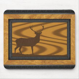 Framed deer- in- walnut-on-oak Mousepad