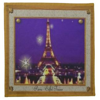 Framed Eiffel Tower Cloth Napkins