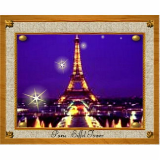 Framed Eiffel Tower Photo Cutout