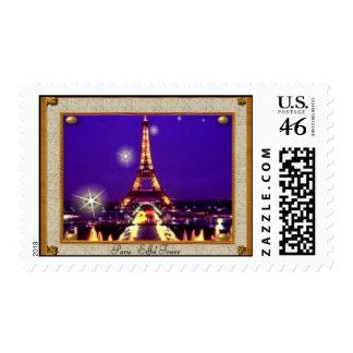 Framed Eiffel Tower Stamp
