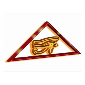 Framed Eye of Horus Postcard