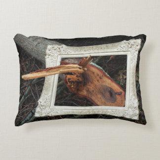 Framed Fallen Tree  Photographic Art Decorative Pillow
